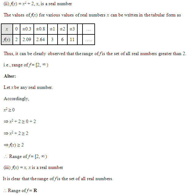 NCERT Solutions for Class 11 Maths Chapter 2 Relations and Functions Ex 2.3 Q5.2