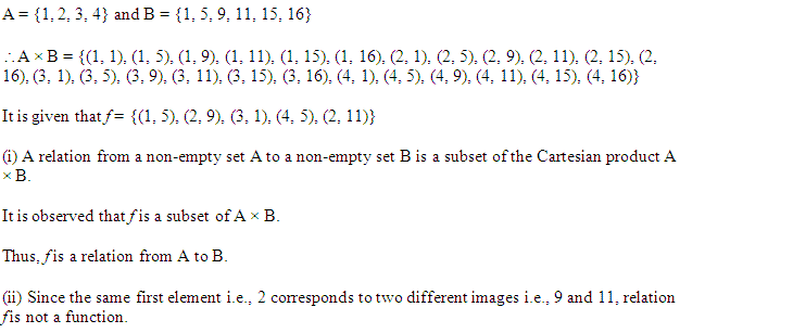 NCERT Solutions for Class 11 Maths Chapter 2 Relations and Functions Miscellaneous Questions Q10.1