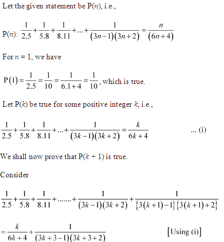 NCERT Solutions for Class 11 Maths Chapter 4 Principle of Mathematical Induction Ex 4.1 Q10.1