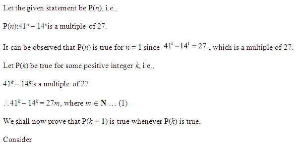 NCERT Solutions for Class 11 Maths Chapter 4 Principle of Mathematical Induction Ex 4.1 Q23.1