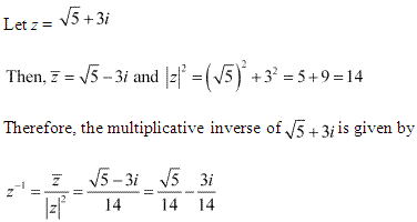 NCERT Solutions for Class 11 Maths Chapter 5 Complex Numbers and Quadratic Equations Ex 5.1 Q12.1