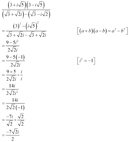NCERT Solutions for Class 11 Maths Chapter 5 Complex Numbers and Quadratic Equations Ex 5.1 Q14.1