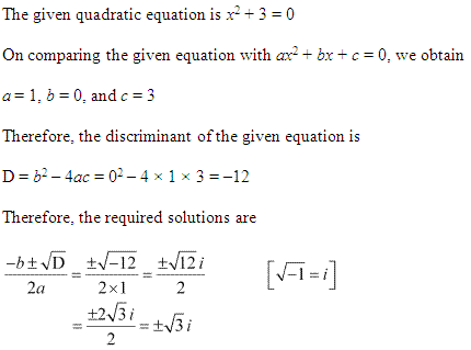 NCERT Solutions for Class 11 Maths Chapter 5 Complex Numbers and Quadratic Equations Ex 5.3 Q1.1
