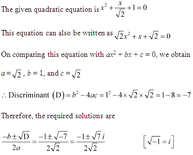 NCERT Solutions for Class 11 Maths Chapter 5 Complex Numbers and Quadratic Equations Ex 5.3 Q10.1
