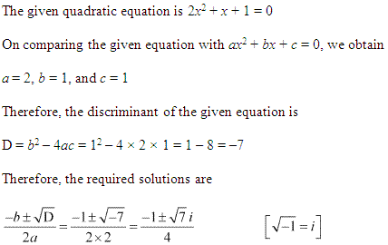 NCERT Solutions for Class 11 Maths Chapter 5 Complex Numbers and Quadratic Equations Ex 5.3 Q2.1