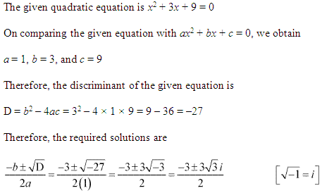 NCERT Solutions for Class 11 Maths Chapter 5 Complex Numbers and Quadratic Equations Ex 5.3 Q3.1