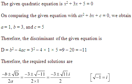 NCERT Solutions for Class 11 Maths Chapter 5 Complex Numbers and Quadratic Equations Ex 5.3 Q5.1