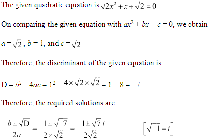 NCERT Solutions for Class 11 Maths Chapter 5 Complex Numbers and Quadratic Equations Ex 5.3 Q7.1