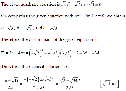NCERT Solutions for Class 11 Maths Chapter 5 Complex Numbers and Quadratic Equations Ex 5.3 Q8.1