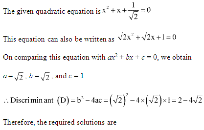NCERT Solutions for Class 11 Maths Chapter 5 Complex Numbers and Quadratic Equations Ex 5.3 Q9.1