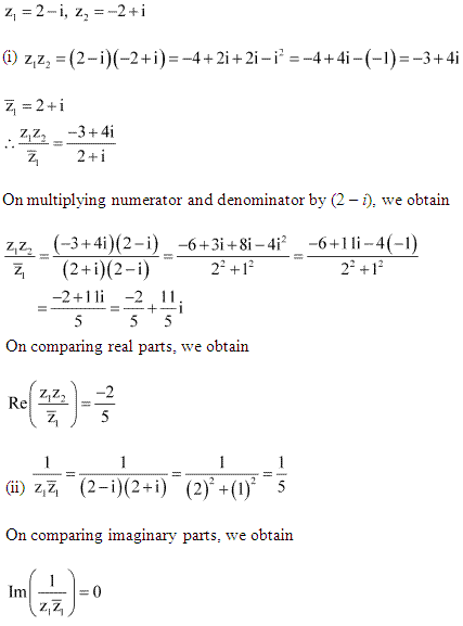 NCERT Solutions for Class 11 Maths Chapter 5 Complex Numbers and Quadratic Equations Miscellaneous Ex Q12.1