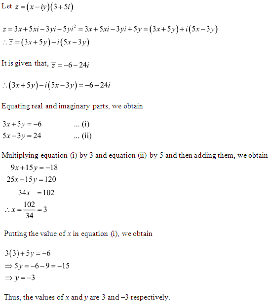 NCERT Solutions for Class 11 Maths Chapter 5 Complex Numbers and Quadratic Equations Miscellaneous Ex Q14.1