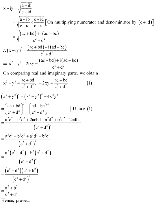 NCERT Solutions for Class 11 Maths Chapter 5 Complex Numbers and Quadratic Equations Miscellaneous Ex Q4.1