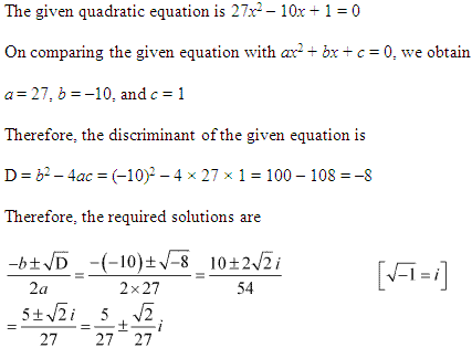 NCERT Solutions for Class 11 Maths Chapter 5 Complex Numbers and Quadratic Equations Miscellaneous Ex Q8.1