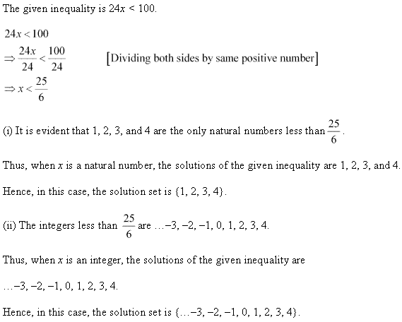 NCERT Solutions for Class 11 Maths Chapter 6 Linear Inequalities Ex 6.1 Q1.1