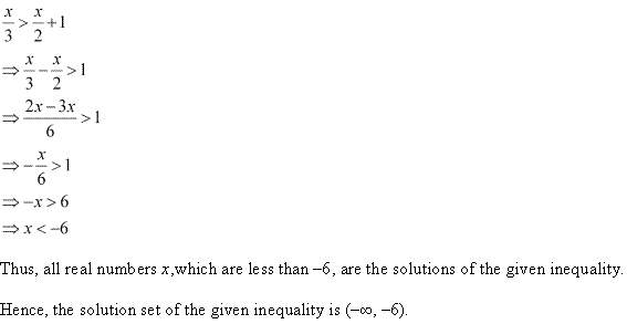 NCERT Solutions for Class 11 Maths Chapter 6 Linear Inequalities Ex 6.1 Q10.1