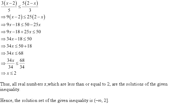 NCERT Solutions for Class 11 Maths Chapter 6 Linear Inequalities Ex 6.1 Q11.1
