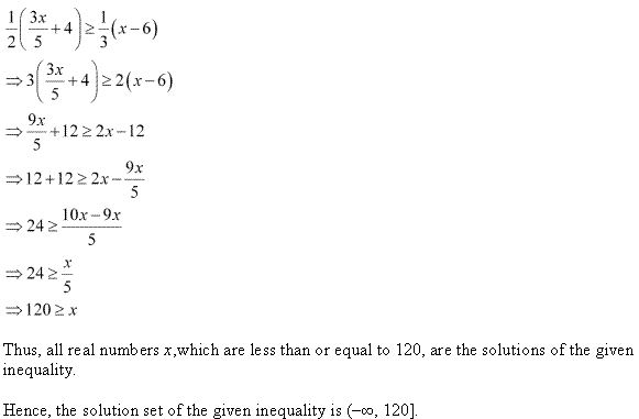 NCERT Solutions for Class 11 Maths Chapter 6 Linear Inequalities Ex 6.1 Q12.1