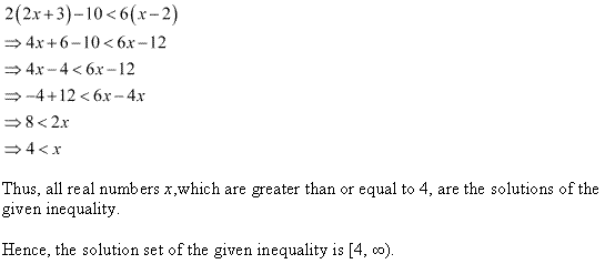 NCERT Solutions for Class 11 Maths Chapter 6 Linear Inequalities Ex 6.1 Q13.1