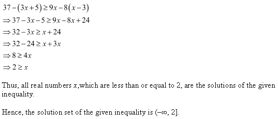 NCERT Solutions for Class 11 Maths Chapter 6 Linear Inequalities Ex 6.1 Q14.1