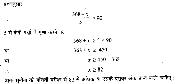 NCERT Solutions for Class 11 Maths Chapter 6 Linear Inequalities Ex 6.1 Q22.1 Hindi