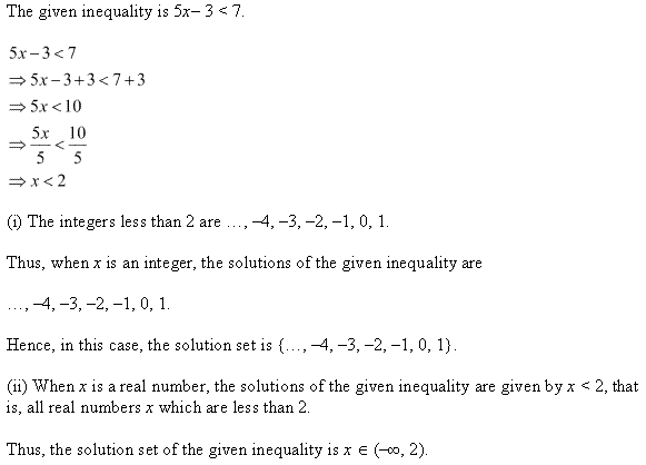 NCERT Solutions for Class 11 Maths Chapter 6 Linear Inequalities Ex 6.1 Q3.1