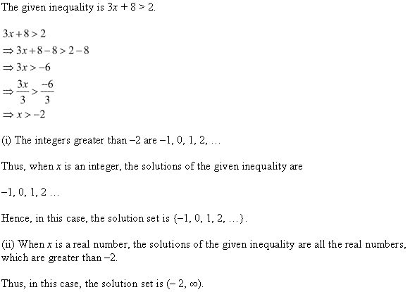 NCERT Solutions for Class 11 Maths Chapter 6 Linear Inequalities Ex 6.1 Q4.1