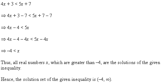 NCERT Solutions for Class 11 Maths Chapter 6 Linear Inequalities Ex 6.1 Q5.1