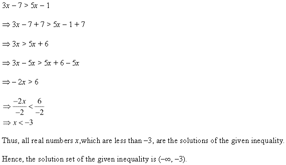 NCERT Solutions for Class 11 Maths Chapter 6 Linear Inequalities Ex 6.1 Q6.1