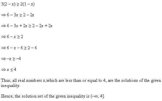 NCERT Solutions for Class 11 Maths Chapter 6 Linear Inequalities Ex 6.1 Q8.1