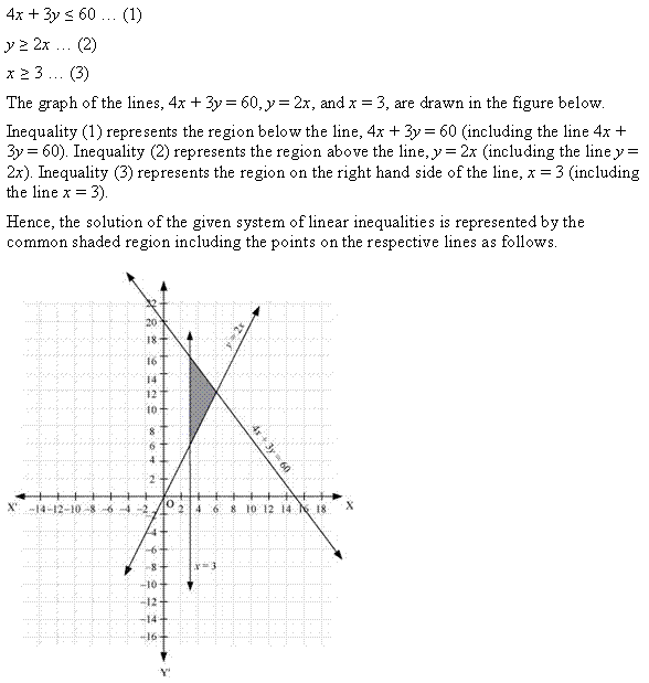 NCERT Solutions for Class 11 Maths Chapter 6 Linear Inequalities Ex 6.3 Q13.1