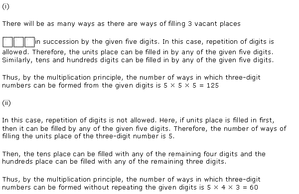 NCERT Solutions for Class 11 Maths Chapter 7 Permutation and Combinations Ex 7.1 Q1.1