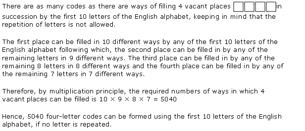 NCERT Solutions for Class 11 Maths Chapter 7 Permutation and Combinations Ex 7.1 Q3.1