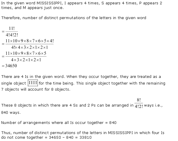 NCERT Solutions for Class 11 Maths Chapter 7 Permutation and Combinations Ex 7.3 Q10.1