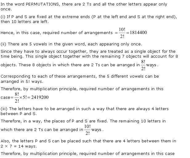 NCERT Solutions for Class 11 Maths Chapter 7 Permutation and Combinations Ex 7.3 Q11.1