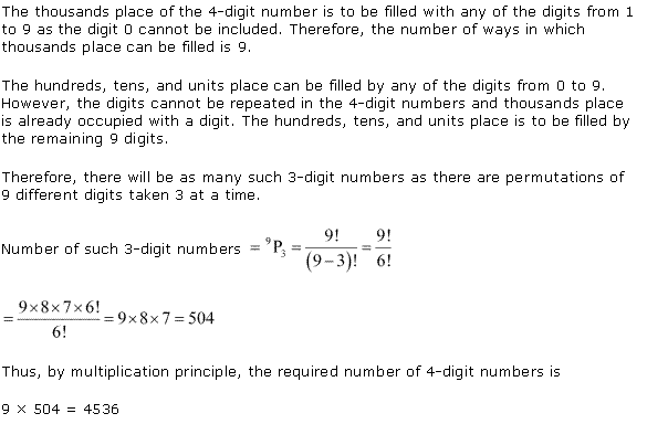 NCERT Solutions for Class 11 Maths Chapter 7 Permutation and Combinations Ex 7.3 Q2.1