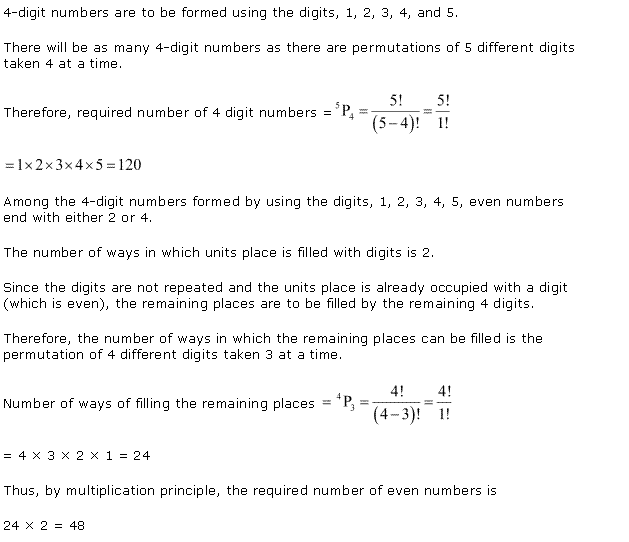 NCERT Solutions for Class 11 Maths Chapter 7 Permutation and Combinations Ex 7.3 Q4.1