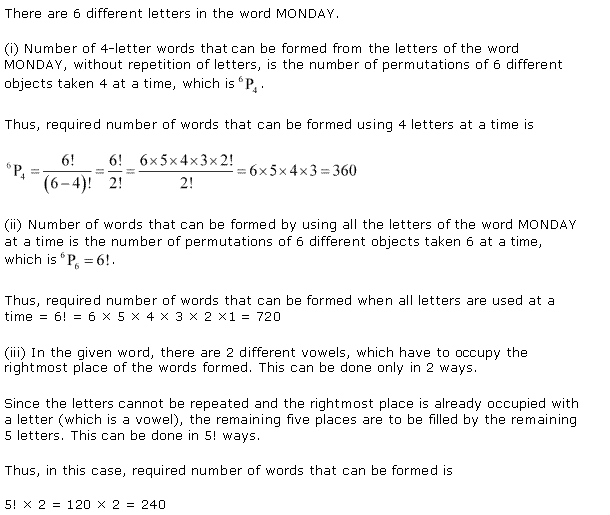 NCERT Solutions for Class 11 Maths Chapter 7 Permutation and Combinations Ex 7.3 Q9.1
