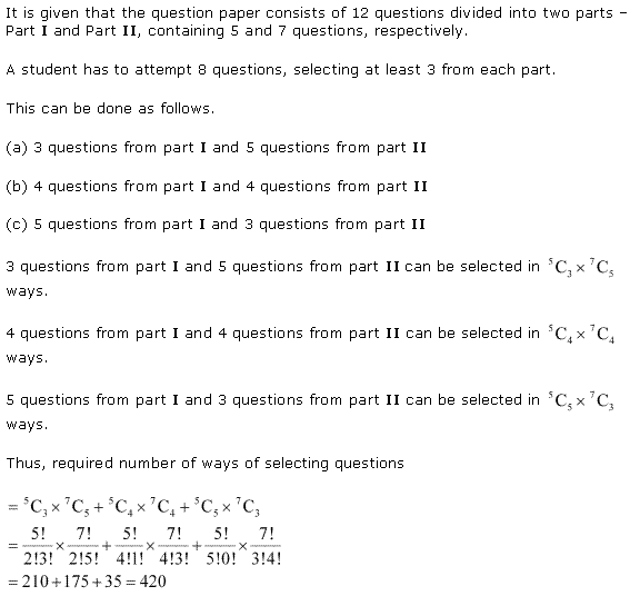 NCERT Solutions for Class 11 Maths Chapter 7 Permutation and Combinations Miscellaneous Ex Q7.1