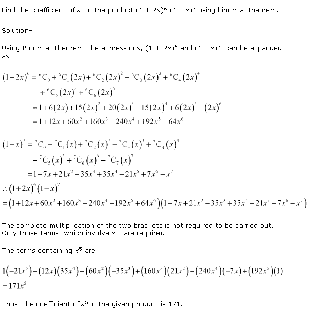 NCERT Solutions for Class 11 Maths Chapter 8 Binomial Theorem Miscellaneous Ex Q3.1