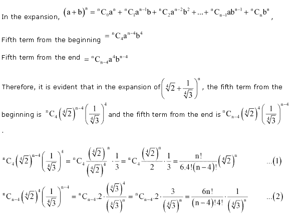 NCERT Solutions for Class 11 Maths Chapter 8 Binomial Theorem Miscellaneous Ex Q8.1