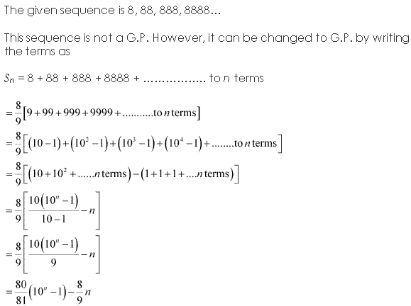 NCERT Solutions for Class 11 Maths Chapter 9 Sequences and Series Ex 9.3 Q18.1