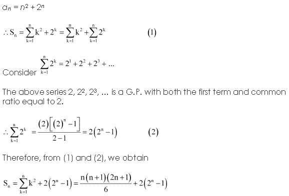 NCERT Solutions for Class 11 Maths Chapter 9 Sequences and Series Ex 9.4 Q9.1