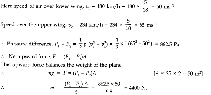 NCERT Solutions for Class 11 Physics Chapter 10 Mechanical Properties of Fluids Q27