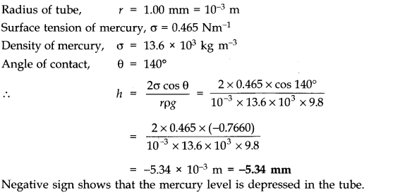 NCERT Solutions for Class 11 Physics Chapter 10 Mechanical Properties of Fluids Q29