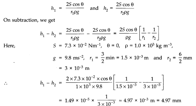 NCERT Solutions for Class 11 Physics Chapter 10 Mechanical Properties of Fluids Q30