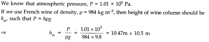 NCERT Solutions for Class 11 Physics Chapter 10 Mechanical Properties of Fluids Q6