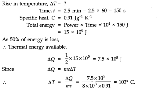 NCERT Solutions for Class 11 Physics Chapter 11 Thermal Properties of matter Q12
