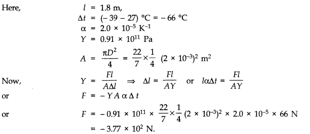 NCERT Solutions for Class 11 Physics Chapter 11 Thermal Properties of matter Q9