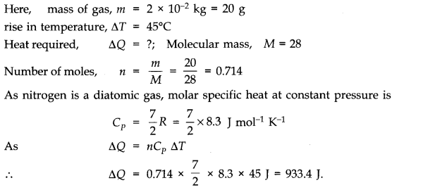 NCERT Solutions for Class 11 Physics Chapter 12 Thermodynamics Q2